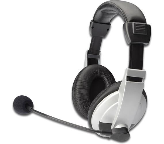 Ednet stereo headset s mikrofonem