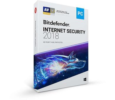Bitdefender Internet Security 2018 5 zařízení na 1 rok (VL11031005-EN)