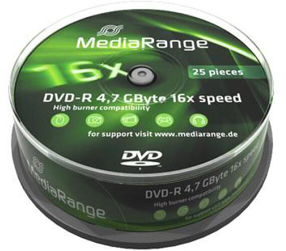 MEDIARANGE DVD-R 4,7GB 16x spindl 10pck/bal (MR452)