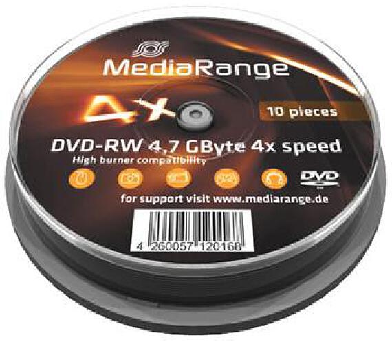 MEDIARANGE DVD-RW 4,7GB 4x spindl 10pck/bal (MR450)