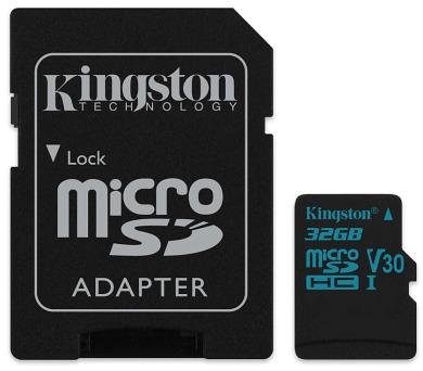 KINGSTON Canvas Go 32GB microSDHC / UHS-I U3 / vč. adaptéru (SDCG2/32GB)