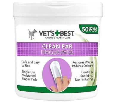 VET´S BEST Čisticí utěrka na uši pro psy