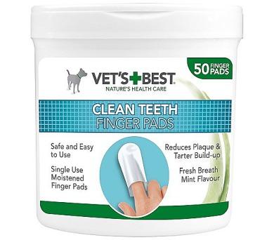 VET´S BEST Čisticí utěrka na zuby pro psy