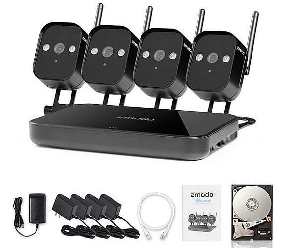 Zmodo 720P Wifi Mini NVR kit 4CH kamerový systém