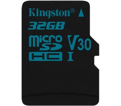 KINGSTON Canvas Go 32GB microSDHC / UHS-I U3 / bez adaptéru (SDCG2/32GBSP)