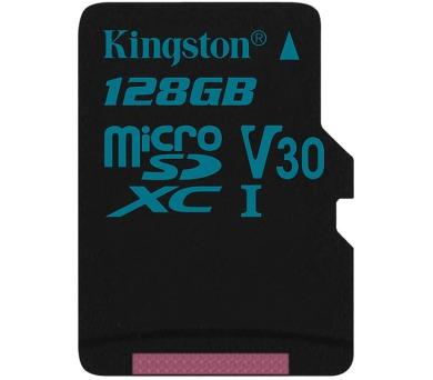 Kingston paměťová karta 128GB Canvas Go! micro SDXC UHS-I U3 (čtení/zápis: 90/45MB/s)