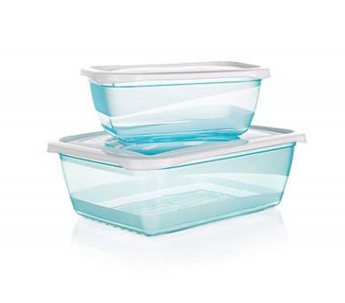 BANQUET Sada plastových dóz POLAR 0,5 a 1,25 l