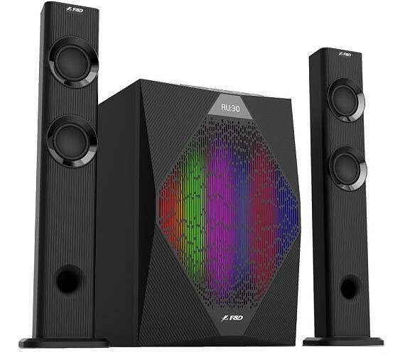 FENDA F&D repro T-300X/ 2.1/ 70W/ černé/ BT4.0/ FM rádio/ USB přehrávání/ dálkové ovládán