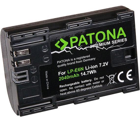 PATONA baterie pro foto Canon LP-E6N 2040mAh Li-Ion Premium + DOPRAVA ZDARMA