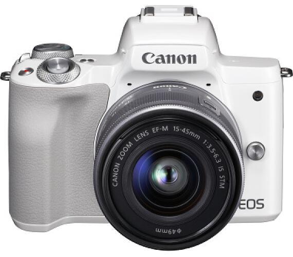 Canon EOS M50 White + EF-M 15-45 +16GB karta ZDARMA (2681C012)