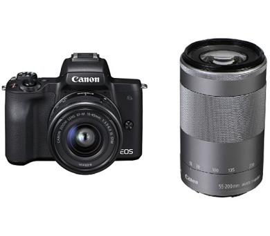 Canon EOS M50 Black + EF-M 15-45 IS + EF-M 55-200