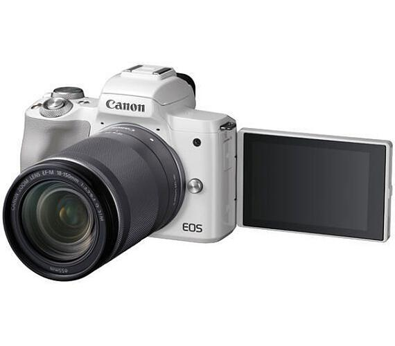 Canon EOS M50 White + EF-M 18-150 + 16GB karta ZDARMA (2681C042)