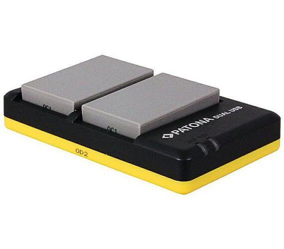 PATONA nabíječka Foto Dual Quick Olympus BLS5 + 2x baterie 1100mAh USB (PT1948B)