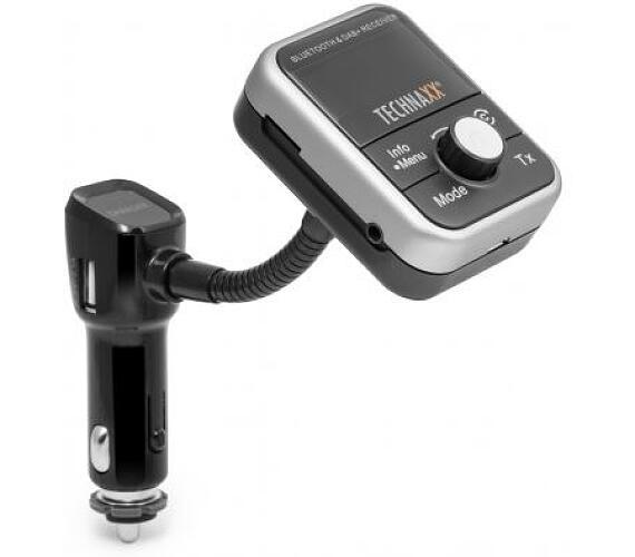 Technaxx FM transmitter + MP3 přehrávač + Bluetooth + DAB+ + DOPRAVA ZDARMA