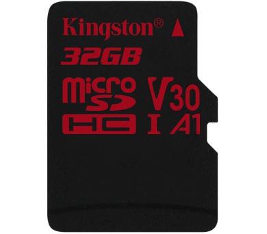 KINGSTON Canvas React 32GB microSDHC / U3 V30 A1 / bez adaptéru (SDCR/32GBSP)