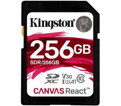 KINGSTON Canvas React 256GB SDXC / U3 V30 A1 / CL10 (SDR/256GB)