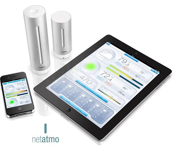 Netatmo Urban - meteostanice pro Android a iOS (NWS01-EC-ALU) + DOPRAVA ZDARMA