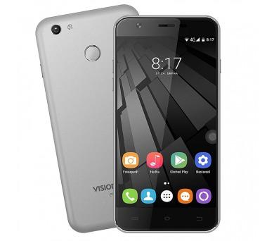 "UMAX telefon VisionBook P55 LTE/ 5,5"" IPS/ 720x1280/ 1,3GHz QC/ 2GB RAM/ 16GB Flash/ GPS/ dual SIM/ Android 7.0/ šedý"