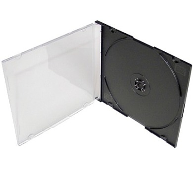 COVER IT Krabička na 1 CD 5,2mm slim box + tray 10ks/bal (27036P10)