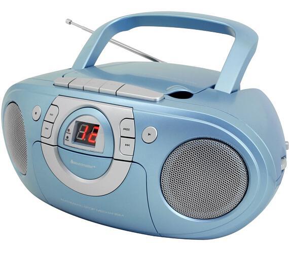 Soundmaster SCD5100BL/ CD přehrávač/ Přehrávač Kazet/ FM rádio/ Modrý