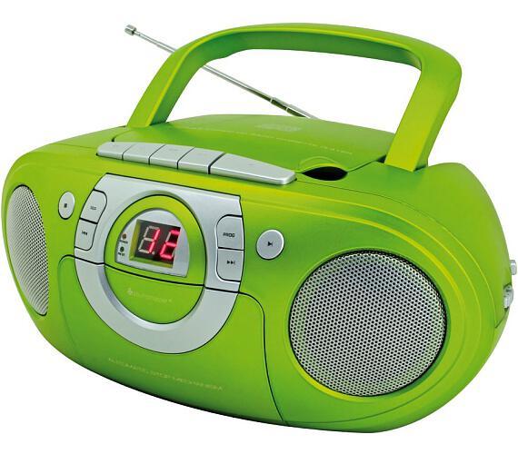 Soundmaster SCD5100GR/ CD přehrávač/ Přehrávač Kazet/ FM rádio/ Zelený