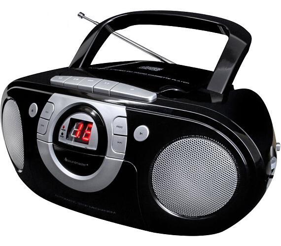 Soundmaster SCD5100SW/ CD přehrávač/ Přehrávač Kazet/ FM rádio/ Černý