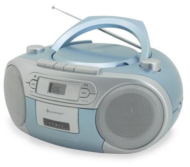 Soundmaster SCD5410BL/ CD přehrávač/ Přehrávač Kazet/ FM rádio/ Modrý