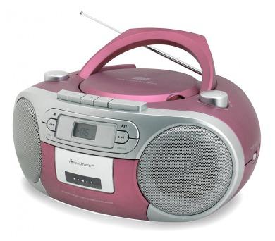 Soundmaster SCD5410PI/ CD přehrávač/ Přehrávač Kazet/ FM rádio/ Růžový