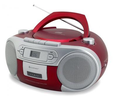 Soundmaster SCD541RO/ CD přehrávač/ Přehrávač Kazet/ FM rádio/ Červený