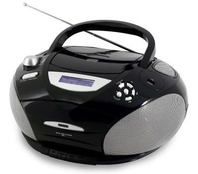 Soundmaster SCD5950SW/ CD přehrávač/ Přehrávač Kazet/ FM rádio/ USB/ Černé
