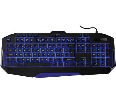 HAMA uRage gamingová klávesnice Exodus Macro2/ drátová/ podsvícená (tři barvy)/ USB/ CZ+SK/ černá