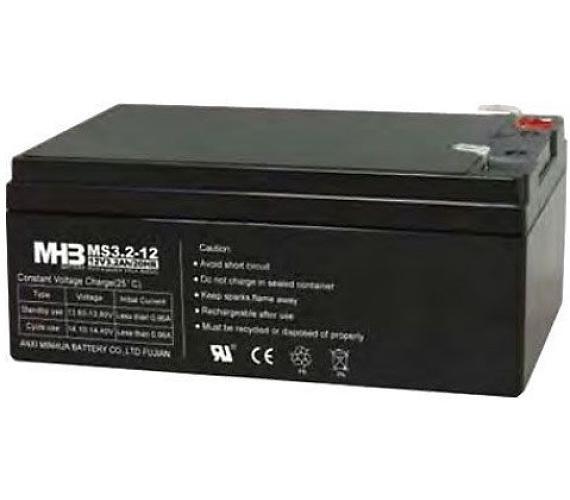 Olověný bezúdržbový akumulátor MHB VRLA AGM 12V/3,2 Ah MS3,2-12 (67x61x134mm)