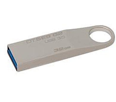 Kingston flash disk 32GB DT SE9 G2 USB 3.0 (čtení/zápis: 100/15MB/s) kovový - pro potisk (DTSE9G2/32GBCL)