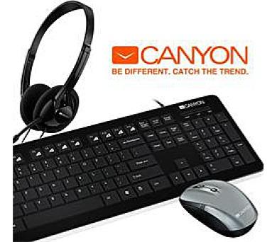 CANYON BUNDLE klávesnice + BEZDRÁTOVÁ MYŠ + SLUCHÁTKA/HEADSET + DOPRAVA ZDARMA