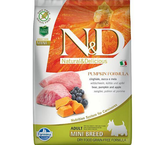 N&D Grain Free Dog Adult Mini Pumpkin Boar & Apple 7 kg