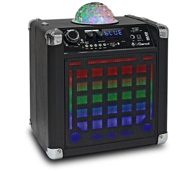 iDANCE DISCO CUBE BC20/ BT repro/ 50W/ 1x Disco ball/ LED/ 1x MIC