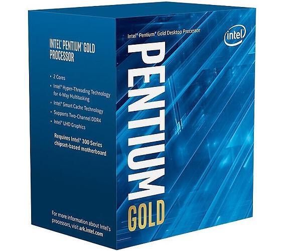 INTEL Pentium G5400 / Coffee Lake / LGA1151 / max. 3,7 GHz / 2C/4T / 4MB / 54W TDP / BOX