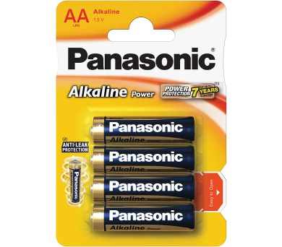 PANASONIC LR6 4BP AA Alk Power alk