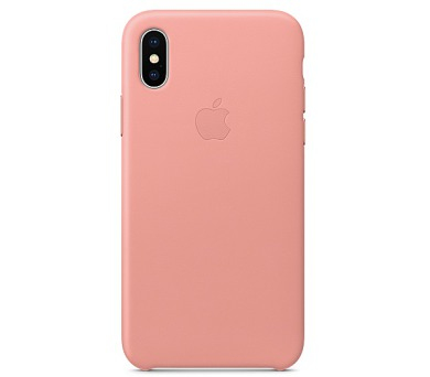 iPhone X Leather Case - Soft Pink (MRGH2ZM/A)