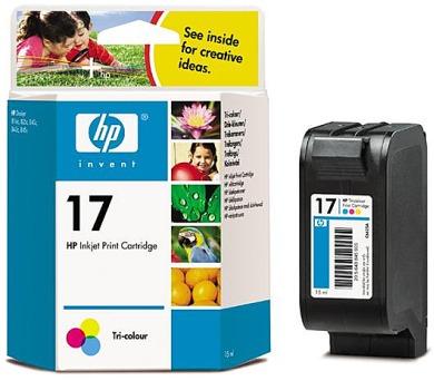 Inkoustová náplň HP No. 17 + DOPRAVA ZDARMA