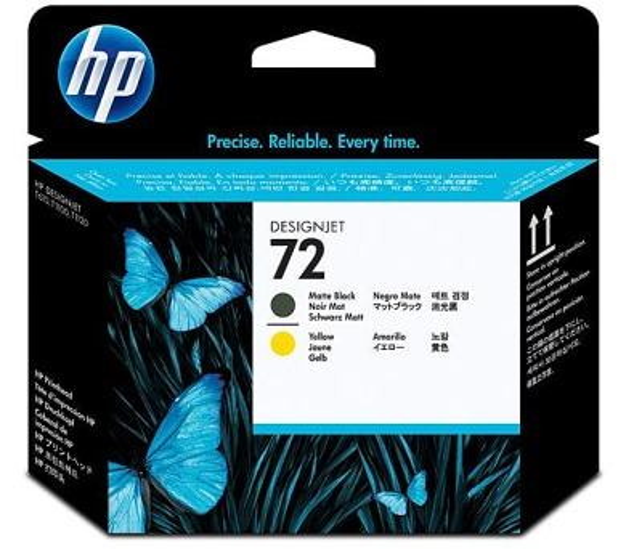 Inkoustová náplň HP No. 72 originální - černá/žlutá + DOPRAVA ZDARMA