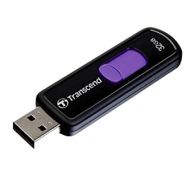 Transcend JetFlash 500 32GB USB 2.0 - černý/fialový