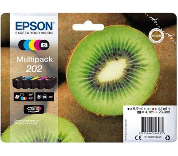 EPSON multipack 5 barev,202 Premium Ink,standard (C13T02E74010) + DOPRAVA ZDARMA