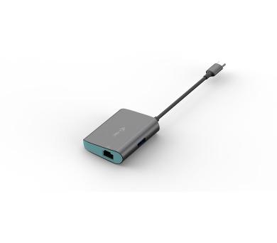 i-tec USB-C Metal Hub s Gigabit Ethernet adaptérem (C31METALANHUB)