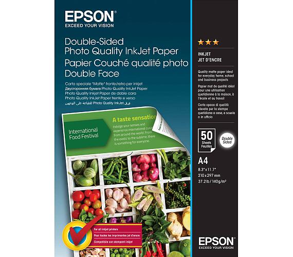 Double-Sided Photo Quality Inkjet Paper,A4,50 sheets (C13S400059)
