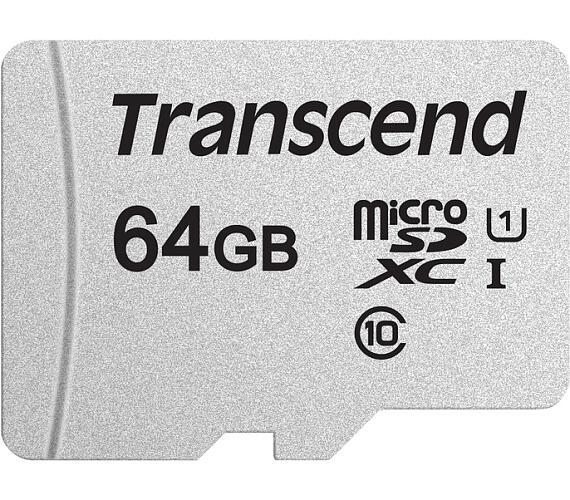 Transcend 64GB microSDXC 300S UHS-I U1 (Class 10) paměťová karta (bez adaptéru) (TS64GUSD300S)