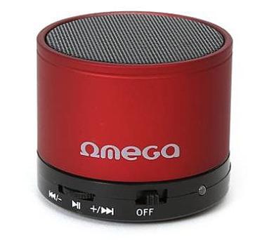 OMEGA bluetooth v 3.0 reproduktor červený (OG47R)