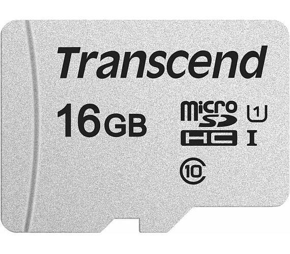 Transcend 16GB microSDHC 300S UHS-I U1 (Class 10) paměťová karta (bez adaptéru)