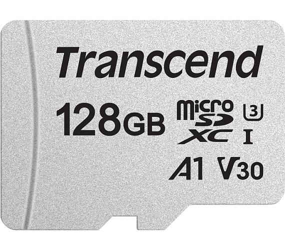 Transcend 128GB microSDXC 300S UHS-I U3 V30 A1 (Class 10) paměťová karta (bez adaptéru)