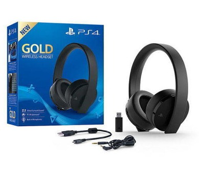 Sony PS4 Gold Wireless Headset - Black (PS719455165)